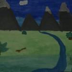 Räumliche Tiefe im Wasserfarbbild, 2. Klasse