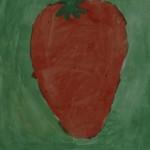 Erdbeere aus Wasserfarben, Klasse 1
